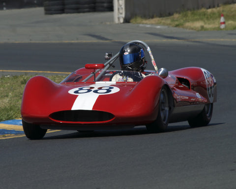 Tom Tuttle driving his 1961 Genie Huffaker in Group 4 at the 2015 CSRG David Love Memorial Vintage Car Road Races at Sonoma Raceway
