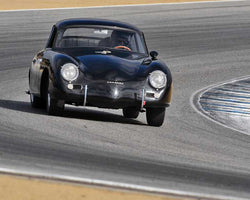Marc Hugo with 1956 Porsche 356 A in Group 2A - 1955-1962 GT Cars at the 2015-Rolex Monterey Motorsport Reunion, Mazda Raceway Laguna Seca