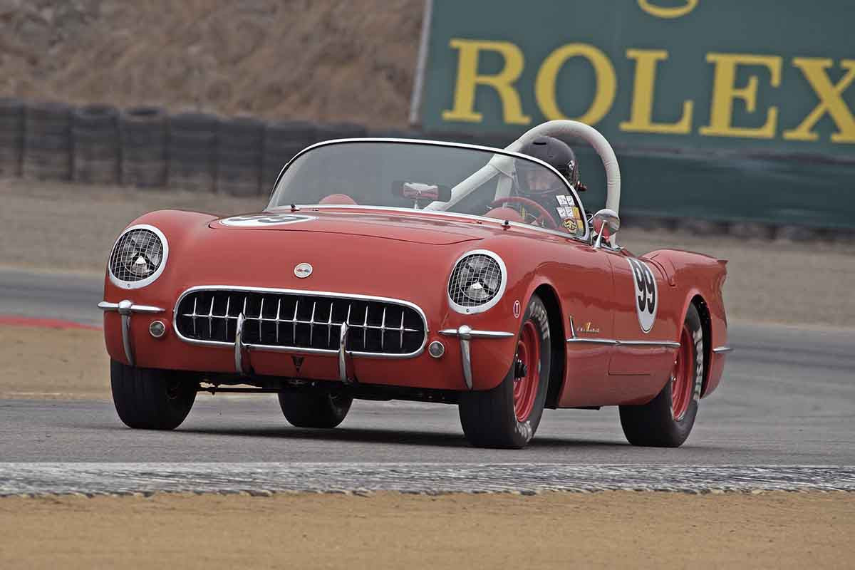 Dick Deluna - 1955 Chevrolet Corvette in Group 3A 2016 Rolex Monterey Motorsport Reunion - Mazda Raceway Laguna Seca