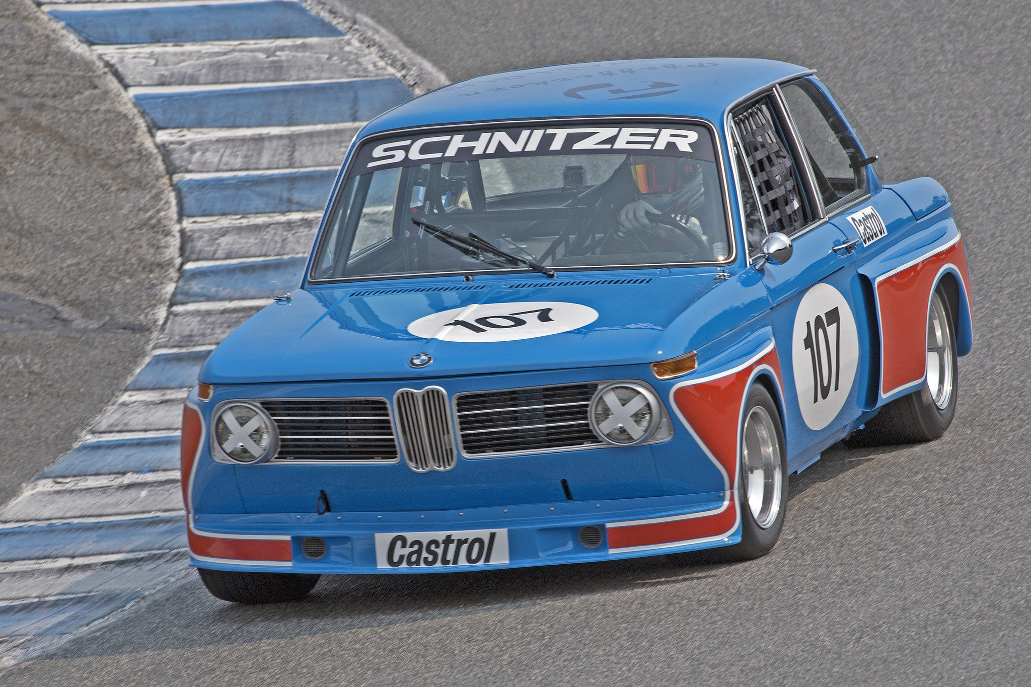 Billy Glavin - 1968 BMW 2002 in Group 3B  at the 2016 Rolex Monterey Motorsport Reunion - Mazda Raceway Laguna Seca