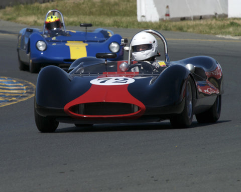 Leland Osborn driving his 1963 Genie MK V in Group 4 at the 2015 CSRG David Love Memorial Vintage Car Road Races at Sonoma Raceway
