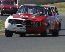Brandon Adrian driving his 1967 Alfa Romeo GTA in Group 2 at the 2015 CSRG David Love Memorial Vintage Car Road Races at Sonoma Raceway