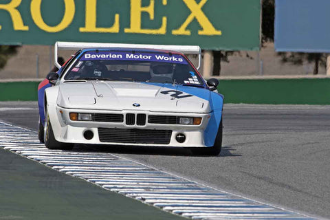 Lawrence Ulrich - 1980 BMW M1 in Group 4A  at the 2016 Rolex Monterey Motorsport Reunion - Mazda Raceway Laguna Seca
