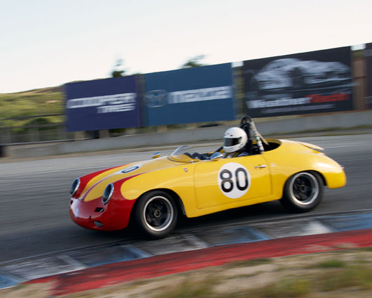 Bob Clucas with 1960 Porsche 356 at the 2016 HMSA LSR Invitational I at Mazda Raceway Laguna Seca