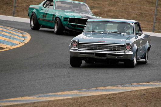 Linda Mountanos with 1966 Chevrolet Nova  in Group 10 at the 2016 SVRA Sonoma Historics - Sears Point Raceway