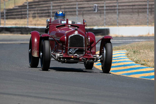 Greg Whitten with 1932 Alfa Romeo  P3  in Group 1  at the 2016 SVRA Sonoma Historics - Sears Point Raceway