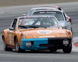 Edie Arrowsmith driving his Porsche 914/6 GT in Group 6 at the 2015 HMSA Spring Club Event at Mazda Raceway Laguna Seca