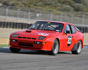 Timothy Pappas with 1981 Porsche 924 Carrera GTS Club Sport in Group 5 - Carrera Trophy at the 2015 Rennsport Reunion V, Mazda Raceway Laguna Seca
