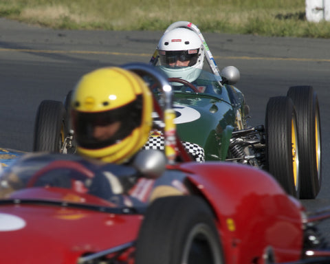 Vern Neff driving his 1960 Lotus 18 in Group 5 at the 2015 CSRG David Love Memorial Vintage Car Road Races at Sonoma Raceway