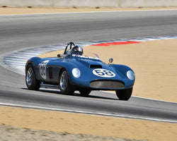 Jon Lecarner with 1958 Devin Special in Group 5A - 1955-1961 Sports Racing Cars over 2000cc at the 2015-Rolex Monterey Motorsport Reunion, Mazda Raceway Laguna Seca
