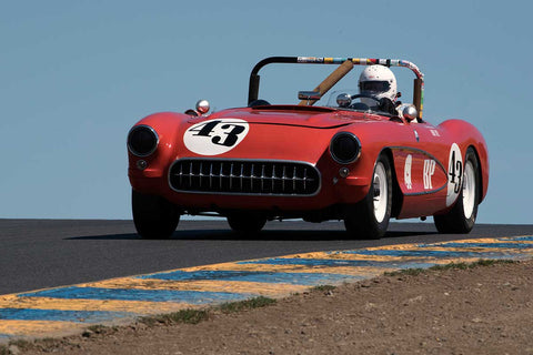 Russ Uzes with 1957 Chevrolet Corvette in Group 6 -  at the 2016 SVRA Sonoma Historics - Sears Point Raceway