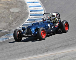 Robert Manson with 1949 Baldwin Mercury Special Sports Racing in Group 2B - 1947-1955 Sports Racing and GT Cars at the 2015-Rolex Monterey Motorsport Reunion, Mazda Raceway Laguna Seca