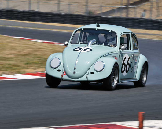 Steven Smith with 1965 Volkswagen Bug in Group 1 - Small Bore Production Cars at the 2015 Portland Vintage Racing Festival at Portland International Raceway