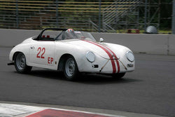 George Batcabe with 1956 Porsche Speedster in Group 1/3  at the 2016 Portland Vintage Racing Festival - Portland International Raceway