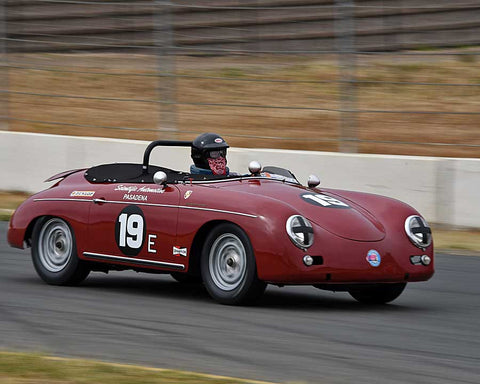 Steve Schmidt with 1958 Porsche 356 Speedster in Group 3 - 1955-1962 Production and GT Cars at the 2015 Sonoma Historic Motorsports Festival at Sonoma Raceway