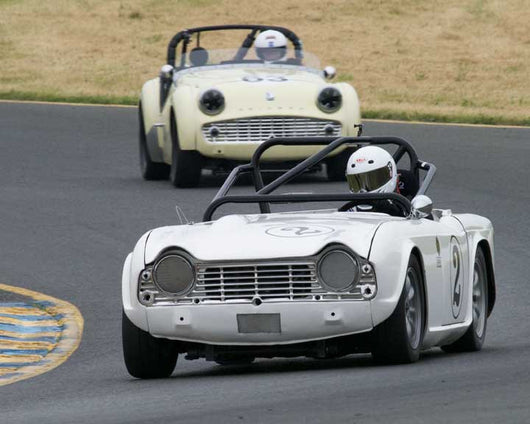 Trevor Pearson with 1962 Triumph TR4 in Group 10 at the 2016 CSRG David Love Memorial - Sears Point Raceway