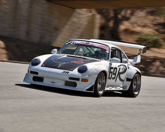 Jeff Gamroth with 1997 Porsche 993 RSR in Group 1 - PCA Sholar-Friedman Cup at the 2015 Rennsport Reunion V, Mazda Raceway Laguna Seca