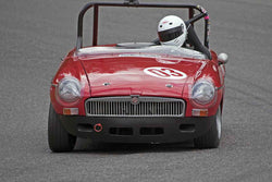 Andrea Hart with MGB in Group 1 SOVREN 2016 Pacific Northwest Historics - Pacific Raceway