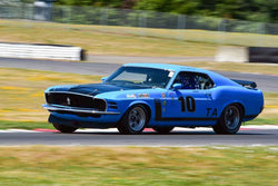 Mike Woolsey - 1970 Ford Mustang in Group 6-10-12a Big Bore Production Cars at the 2019 SVRA Portland Speedtour run at Portland International Raceway