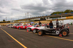 Group 8-12b GT/Production Cars at the 2019 SVRA Portland Speedtour run at Portland International Raceway