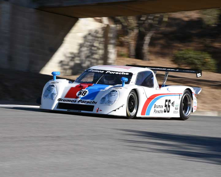 Ron Thomas with 2003 Porsche Fabcar Daytona Prototype in Group 6 - Stuttgart Cup at the 2015 Rennsport Reunion V, Mazda Raceway Laguna Seca