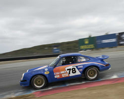 Kelvin Tse driving his 1966 Porsche 911 in Group 3 at the 2015 HMSA LSR Inventional I at Mazda Raceway Laguna Seca