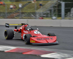 Wade Carter with 1976 March 76B in Group 9 - Wings and Slicks - Open Wheel Cars 1973-2008 at the 2015 Portland Vintage Racing Festival at Portland International Raceway