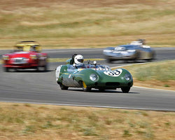Bruce Miller driving his 1958 Lotus Eleven in Group 4 at the 2015 CSRG Thunderhill Rolling Thunder at Thunderhill Raceway