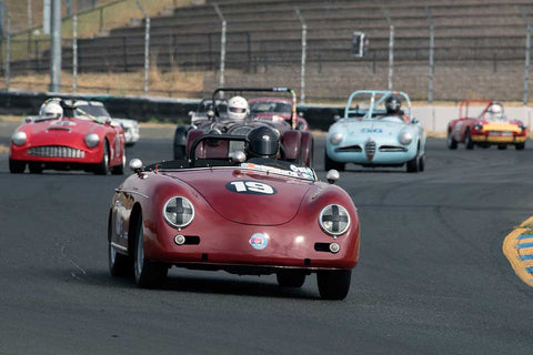 Steve Schmidt with 1958 Porsche 356 Speedster in Group 3 -  at the 2016 SVRA Sonoma Historics - Sears Point Raceway