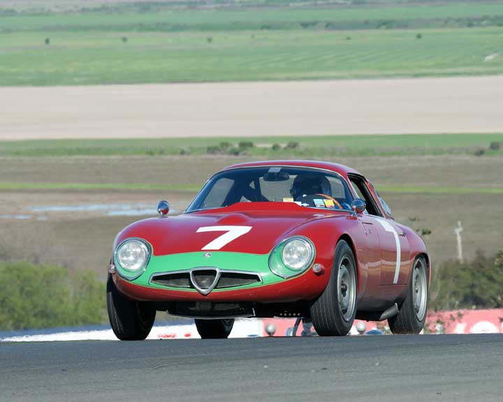 Marnix Dillenius with 1964 Alfa Romeo TZ Coupe in Group 9 - at the 2016 CSRG David Love Memorial - Sears Point Raceway