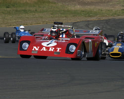 John Goodman driving his 1971 Ferrari 312 P Sparling Special in Group 7 at the 2015 CSRG David Love Memorial Vintage Car Road Races at Sonoma Raceway