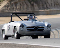 Ted Stroscher driving his Mercedes-Benz 190SL in Group 1 at the 2015 HMSA Spring Club Event at Mazda Raceway Laguna Seca