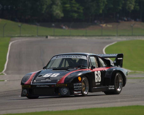 Lloyd Hawkins with 1979 Porsche 935 in Group 5 at the 2015 HMSA Barber Historics