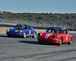 Tom Haacker with 1969 Porsche 911S in Group 3 - Eifel Trophy at the 2015 Rennsport Reunion V, Mazda Raceway Laguna Seca