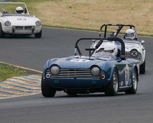 Jeff Quick with 1967 Triumph TR4A in Group 10 at the 2016 CSRG David Love Memorial - Sears Point Raceway