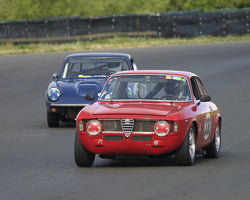 Bruce Miller driving his 1965 Alfa Romeo Sprint GT in Group 2 at the 2015 CSRG David Love Memorial Vintage Car Road Races at Sonoma Raceway