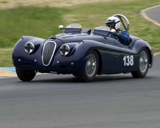 Tim Barnes with 1951 Jaguar XK120 in Group 9 - at the 2016 CSRG David Love Memorial - Sears Point Raceway