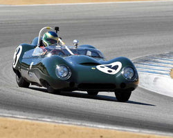 Michael Malone with 1959 Lotus MK15 in Group 3B - 1955-1961 Sports Racing Cars under 2000cc at the 2015-Rolex Monterey Motorsport Reunion, Mazda Raceway Laguna Seca
