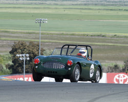 Gary Black driving his 1960 Austin-Healey 3000 in Group 3 at the 2015 CSRG David Love Memorial Vintage Car Road Races at Sonoma Raceway
