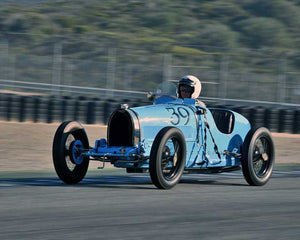 Charlie Shalvoy with 1926 Bugatti T39A in Group 1B - 1927-1951 Racing Cars at the 2015-Rolex Monterey Motorsport Reunion, Mazda Raceway Laguna Seca