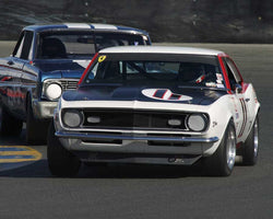 Norm Daniels driving his 1968 Chevrolet Camaro in Group 8 at the 2015 CSRG David Love Memorial Vintage Car Road Races at Sonoma Raceway
