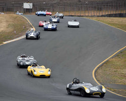 Group 4 - 1955-1960 Sports Racing Cars approaching Turn 3 at the 2015 Sonoma Historic Motorsports Festival at Sonoma Raceway