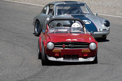 Charly Mitchel with 1969 Triumph TR6 in Groups 2&3  at the 2016 SOVREN Spring Sprints, Pacific Raceway