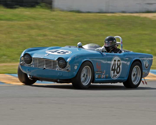 Brian Ebding with Triumph TR4 in Group 10 at the 2016 CSRG David Love Memorial - Sears Point Raceway