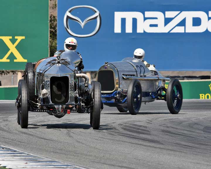 Eric Ramos with 1916 National AC in Group 1A - Pre 1940 Sports Racing and Touring Cars at the 2015-Rolex Monterey Motorsport Reunion, Mazda Raceway Laguna Seca