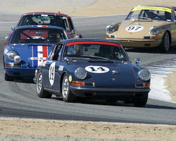 Jeff Lewis with 1967 Porsche 911 in Group 3 - Eifel Trophy at the 2015 Rennsport Reunion V, Mazda Raceway Laguna Seca