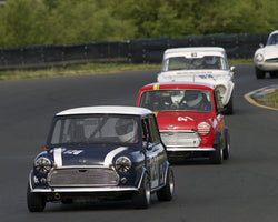 Nick Martin driving his 1967 Mini Cooper S in Group 2 at the 2015 CSRG David Love Memorial Vintage Car Road Races at Sonoma Raceway