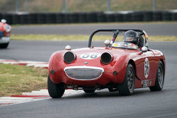 Chip Starr with 1960 Austin Healey Sprite in Group 1/3  at the 2016 Portland Vintage Racing Festival - Portland International Raceway