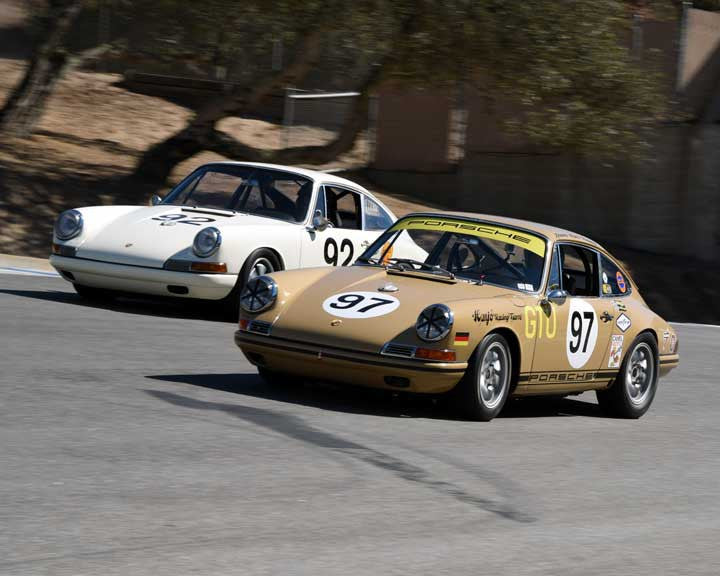 Andrew Larson with 1967 Porsche 911 in Group 3 - Eifel Trophy at the 2015 Rennsport Reunion V, Mazda Raceway Laguna Seca
