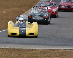 Paul Adams with 1962 Elva Mk 6 in  Group 1 at the 2015 Season Finale at Thunderhill Raceway